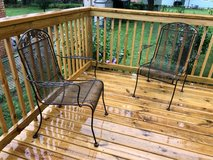 3 Iron patio chairs in Schaumburg, Illinois