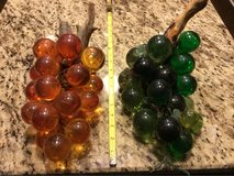 Large Orange and Green Grape Cluster on Wood Stem $25.00 each in San Antonio, Texas