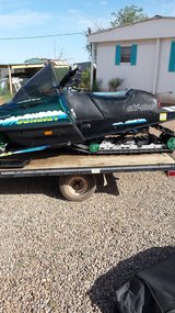 2 snowmobiles with trailer in Alamogordo, New Mexico