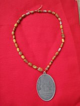 Vintage Native American Trade Bead Necklace with George Washington Medallion with Case in Naperville, Illinois