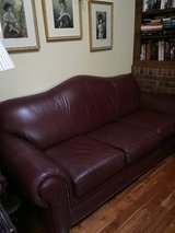 Burgundy leather couch, 2nd sofa bed matching couch, and a Burgundy recliner . in Naperville, Illinois