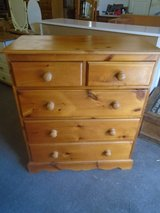 Solid pine chest of drawers 2 over 3 in Lakenheath, UK
