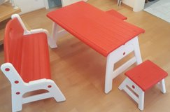 Childs Picnic Table two stools and bench seat  * Cleaning out sale. Lots must go * in Wiesbaden, GE