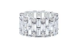 SALE TODAY***Baguette Swarovski Crystals Eternity Ring: 9***BRAND NEW in Cleveland, Texas