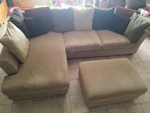 Sofa and Chaise Lounger with Ottoman and Round Chair in Fort Bliss, Texas