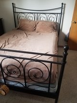 Queen size bed frame in Morris, Illinois