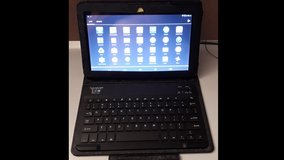 Double Power Android Tablet PC Quad Core Cortex A7@1.3 GHz + Bluetooth Keyboard & Case in Wiesbaden, GE