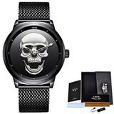 Men's LIGE 3D Skull Luxury Casual Quartz Watch in Wilmington, North Carolina