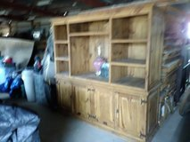 Oak two Piece entertainment center in Philadelphia, Pennsylvania