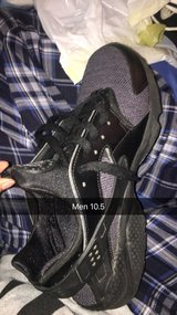 Black and grey huaraches in Fort Riley, Kansas