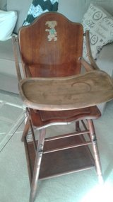 Wood Childs High Chair Combo in Orland Park, Illinois