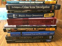 Various Criminal Justice books in Naperville, Illinois