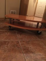 Strong Wooden TV /Stereo Table with Wheels in St. Charles, Illinois