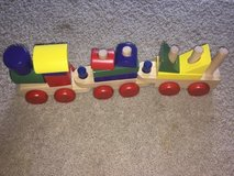 Wooden Geometric Train Set in Cherry Point, North Carolina