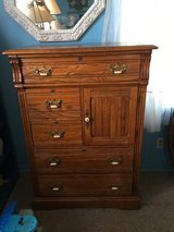 All wood chest 5 draws 36 inches long 19 inches deep 51 inches tall in Cleveland, Texas