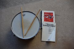 Snare drum with books in Ramstein, Germany