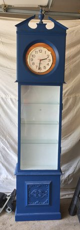 Vintage Homemade Grandfather Clock with built in shelves in Plainfield, Illinois