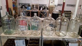 Glass wine carboys in Belleville, Illinois
