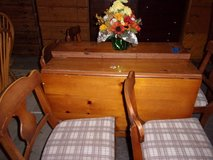 Pine Table with Two Leaves and Six Chairs in Fort Riley, Kansas