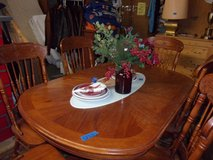 Oval Oak Table and Six Chairs in Fort Riley, Kansas