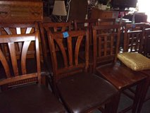 Set of Four Bar Style Padded Chairs in Fort Riley, Kansas