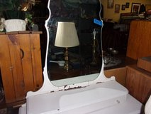 White Vanity With Large Mirror in Fort Riley, Kansas