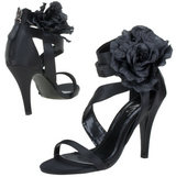 NEW - Black Flower Open Toe Shoes in Ramstein, Germany