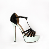 NEW - White/Black Platform Heels in Ramstein, Germany