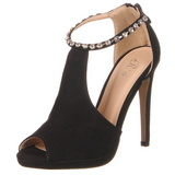 NEW Issy Black Open Toe Gem Strap Heels in Ramstein, Germany