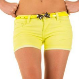 NEW Yellow Denim Shorts With Bow Belt in Ramstein, Germany