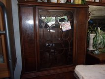 Vintage Glass Front China Hutch With Key in Fort Riley, Kansas