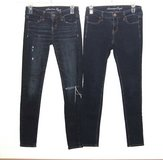 American Eagle Lot of 2 Jegging Jeans Size 0 2 Stretch & Super Stretch Dark Blue in Morris, Illinois