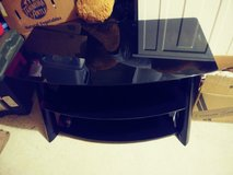 glass tv stand (black) in Fort Leonard Wood, Missouri