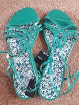 UK size 7 green sandals in Lakenheath, UK