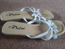 UK size 7 white sandals in Lakenheath, UK