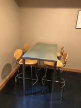 Room and Board Counter Height table with 4 stools in Morris, Illinois
