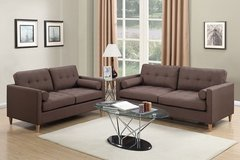 NEW SOFA AND LOVE SET CHOCOLATE COLOR  FREE DELIVERY in San Bernardino, California