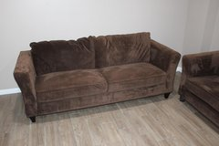 Very COMFORTABLE pair of brown microfiber sofas in CyFair, Texas