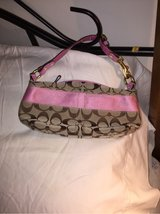 pink and brown coach small purse in Huntsville, Alabama