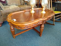 Ornate Wood Coffee Table in Aurora, Illinois