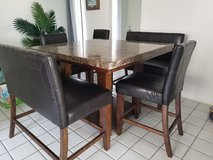 Marbletop Dining Table and Chairs Set in Camp Pendleton, California