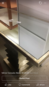 Mirror Console Table (New) in Fort Leonard Wood, Missouri