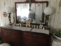 Solid wood dresser and mirror in Fort Drum, New York