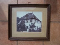 Ca. 1920s Framed Picture of German House in Ramstein, Germany