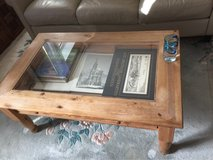 wooden coffee table with display drawer in Ramstein, Germany