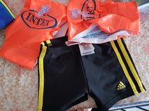 Adidas boys swim short with swim helpers and sports bag in Stuttgart, GE