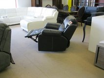Large Flat Recliner in Black and Dark Brown including delivery in Grafenwoehr, GE