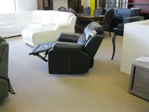 Large Flat Recliner in Black and Dark Brown including delivery in Ansbach, Germany