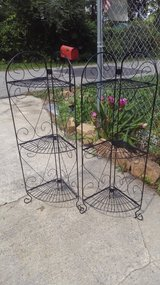 Two corner three tier plant holder etc in Warner Robins, Georgia
