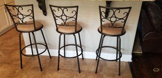 3 fancy upholstered bar stools in Dover, Tennessee